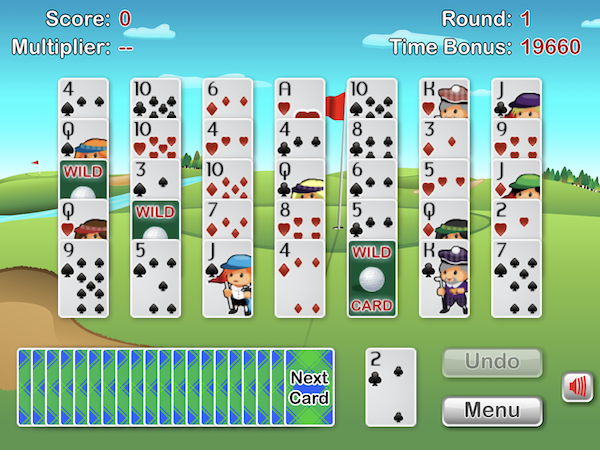 Golf Solitaire deal