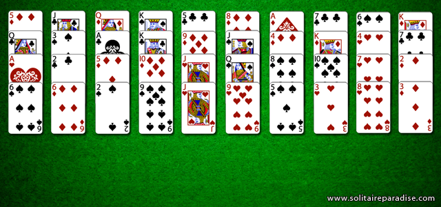 Forty Thieves Solitaire Set Up