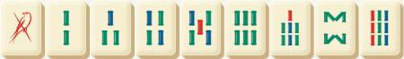 Mahjong Bamboo Tiles