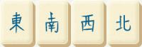 Mahjong Wind Tiles